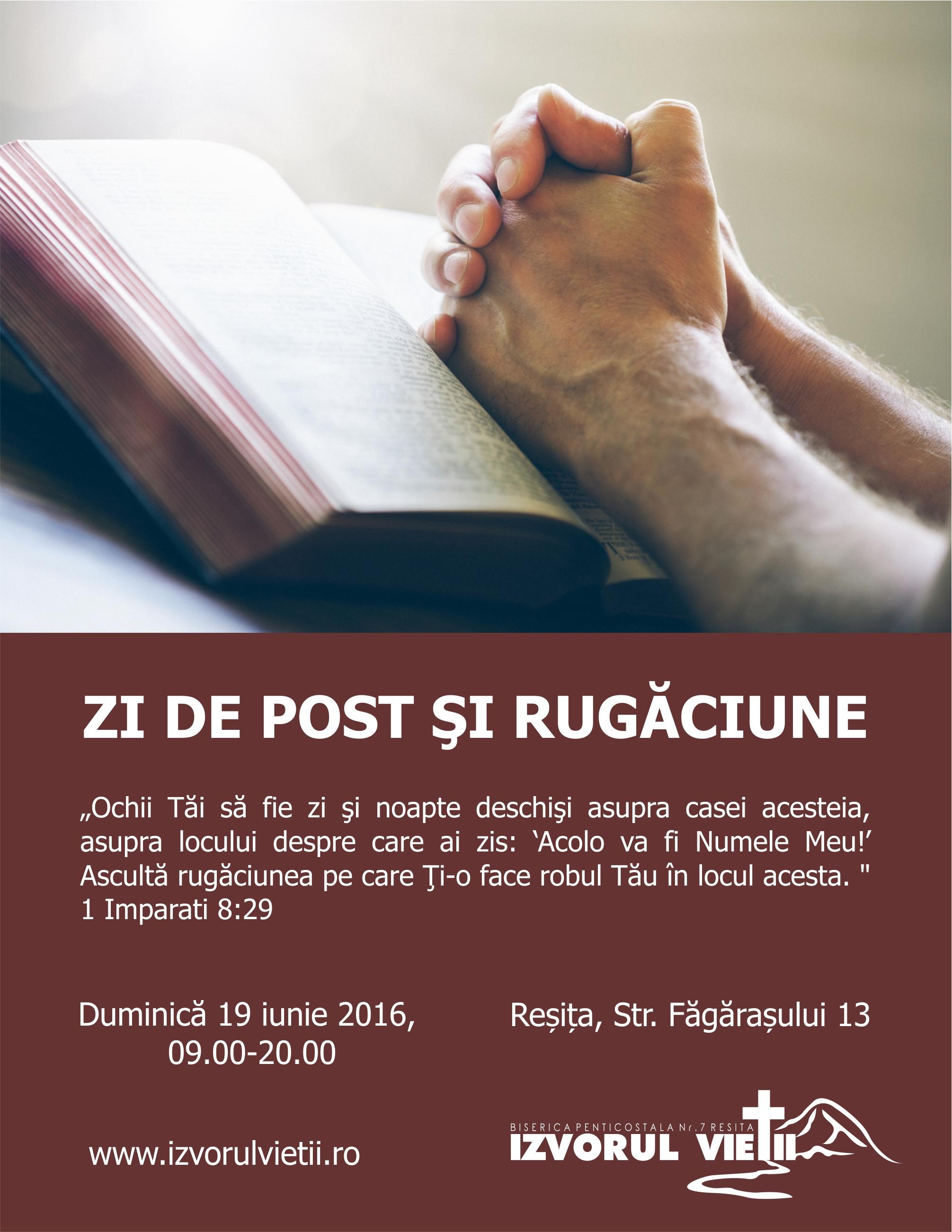ZI DE POST ŞI RUGĂCIUNE 19iunie2016