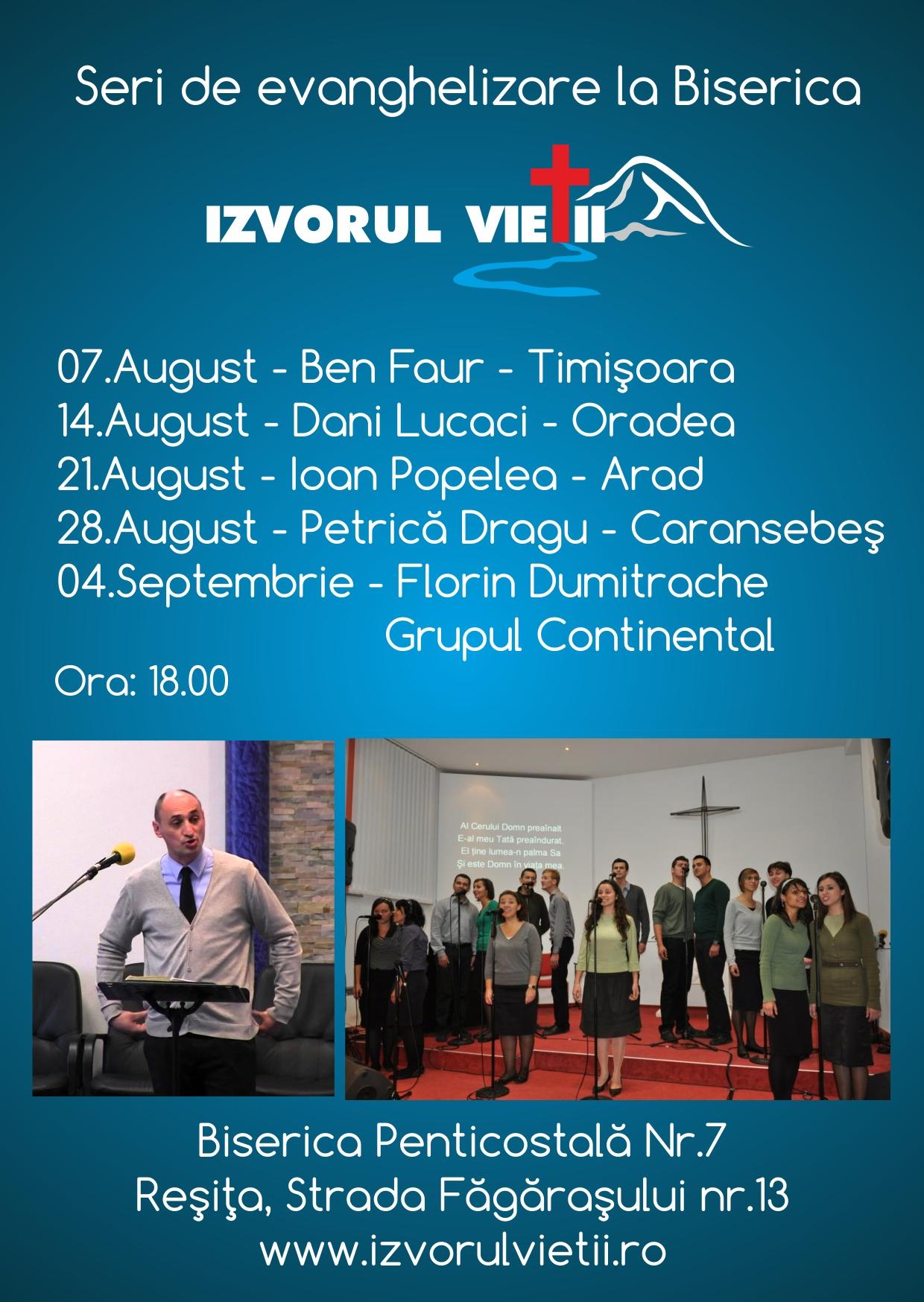 evanghelizare august 2016